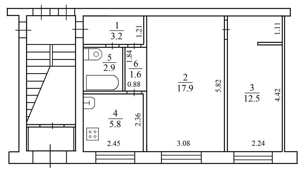 Продажа двухкомнатной квартиры рабочий посёлок Малино, цена 1000000 рублей, 2020 год объявление №458904 на megabaz.ru
