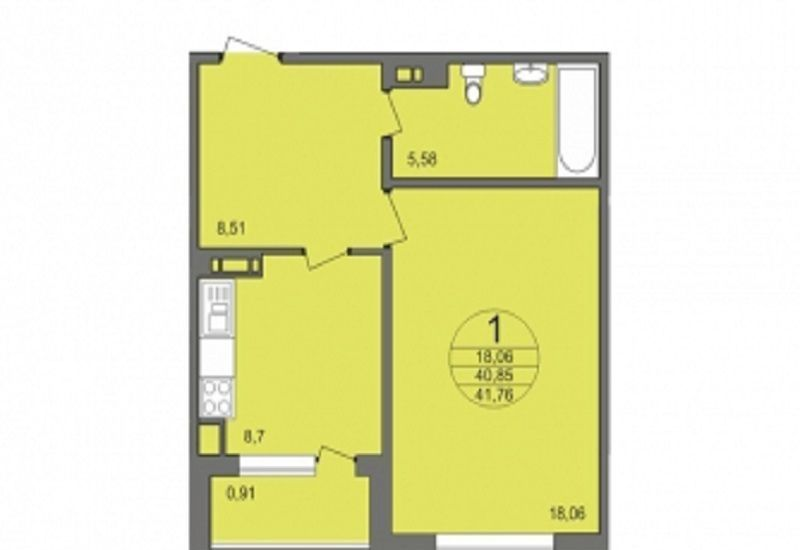 Продажа однокомнатной квартиры деревня Чёрная, Широкая улица 21, цена 5400000 рублей, 2021 год объявление №516134 на megabaz.ru