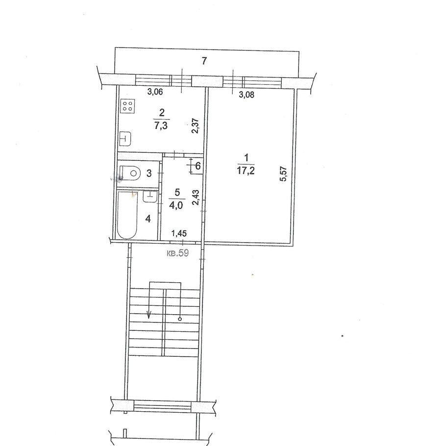 Продажа однокомнатной квартиры село Константиново, цена 2200000 рублей, 2020 год объявление №498383 на megabaz.ru