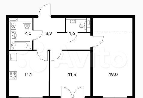 Продажа двухкомнатной квартиры Москва, метро Фили, Заречная улица 2/1с12, цена 18000000 рублей, 2021 год объявление №532081 на megabaz.ru