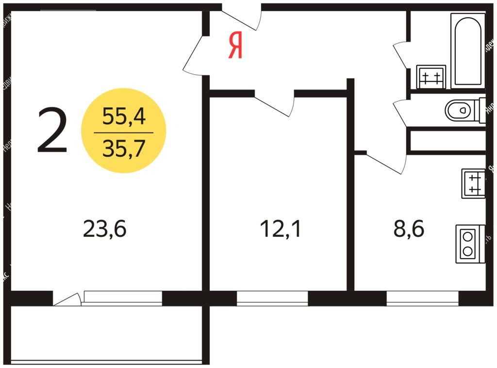 Аренда двухкомнатной квартиры Москва, метро Ботанический сад, Ярославское шоссе 28, цена 40000 рублей, 2021 год объявление №1310280 на megabaz.ru