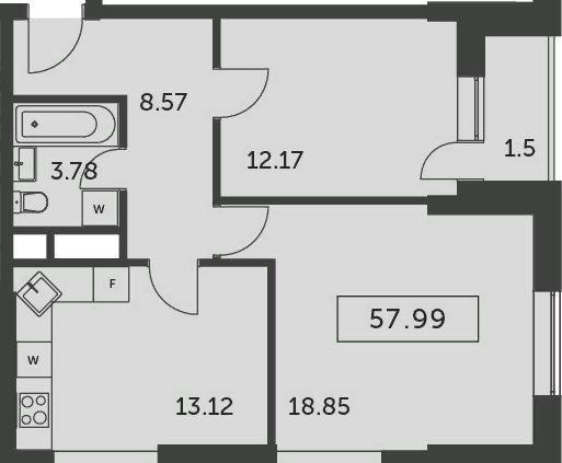 Аренда двухкомнатной квартиры деревня Раздоры, метро Строгино, улица Липовой Рощи 2к2, цена 30000 рублей, 2020 год объявление №1220009 на megabaz.ru