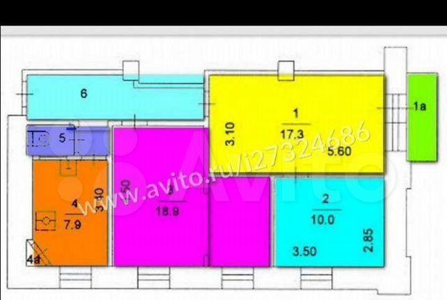 Продажа трёхкомнатной квартиры Москва, метро Сокольники, Малая Остроумовская улица 1, цена 17000000 рублей, 2021 год объявление №559684 на megabaz.ru