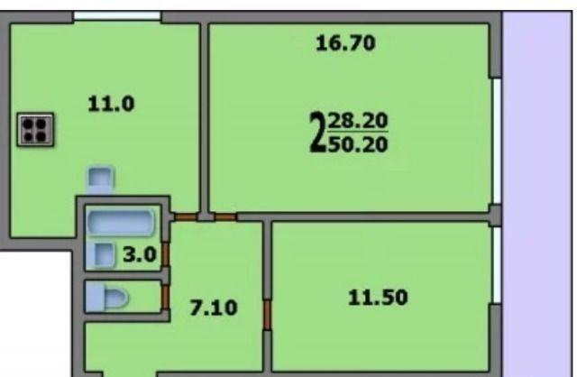Продажа двухкомнатной квартиры Москва, метро Шоссе Энтузиастов, улица Буракова 19, цена 9700000 рублей, 2020 год объявление №496581 на megabaz.ru