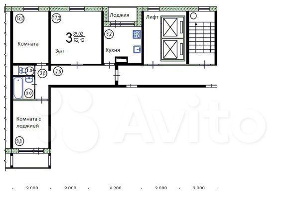 Продажа трёхкомнатной квартиры поселок Развилка, метро Красногвардейская, цена 6750000 рублей, 2021 год объявление №488160 на megabaz.ru