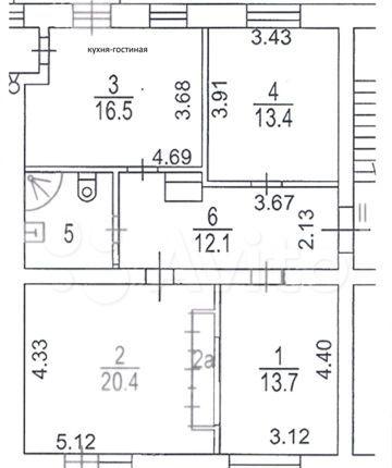 Продажа трёхкомнатной квартиры Москва, метро Волгоградский проспект, Волгоградский проспект 17с1, цена 17250000 рублей, 2021 год объявление №547992 на megabaz.ru