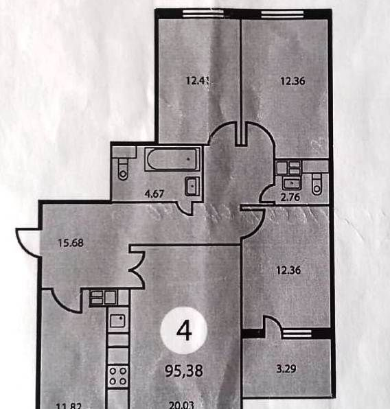 Продажа четырёхкомнатной квартиры поселок Володарского, Зелёная улица 43, цена 6850000 рублей, 2020 год объявление №502478 на megabaz.ru