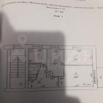 Продажа трёхкомнатной квартиры Куровское, Вокзальная улица 13, цена 2880000 рублей, 2020 год объявление №498695 на megabaz.ru