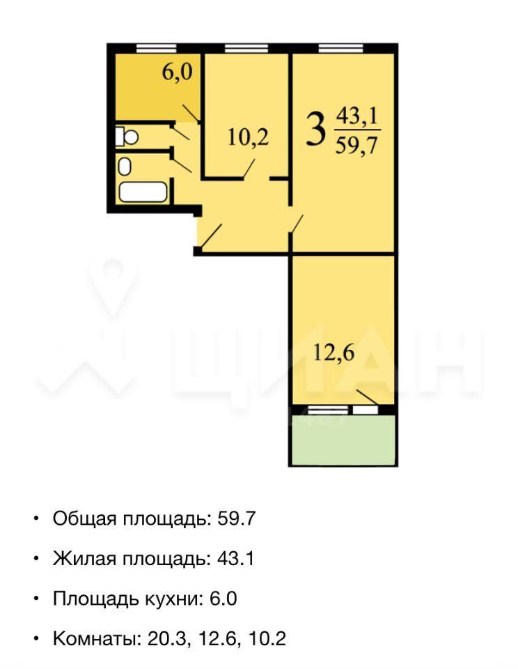 Продажа трёхкомнатной квартиры Москва, метро Зябликово, Ясеневая улица 6, цена 10500000 рублей, 2020 год объявление №502397 на megabaz.ru