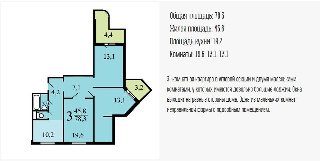 Продажа трёхкомнатной квартиры Люберцы, Комсомольский проспект 10/1, цена 7100000 рублей, 2020 год объявление №472184 на megabaz.ru
