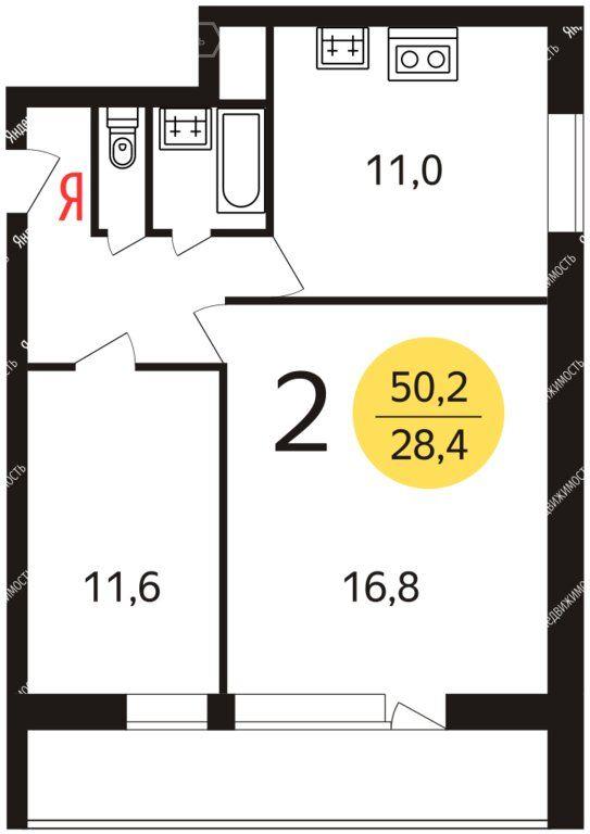 Продажа двухкомнатной квартиры Москва, метро Зябликово, Ясеневая улица 27/25, цена 8700000 рублей, 2020 год объявление №499309 на megabaz.ru