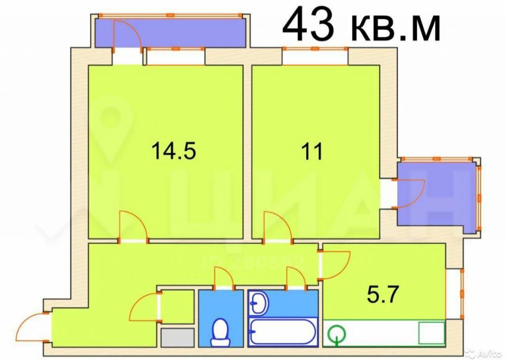 Продажа двухкомнатной квартиры Москва, метро Молодежная, Ярцевская улица 3, цена 11300000 рублей, 2020 год объявление №505238 на megabaz.ru