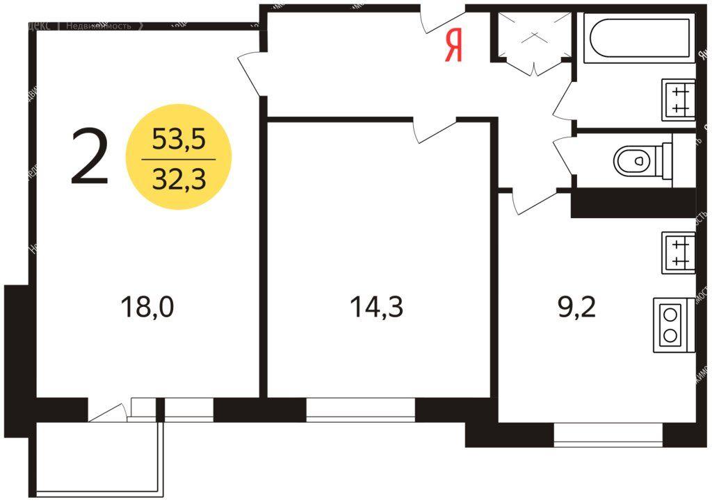 Продажа двухкомнатной квартиры Москва, метро Братиславская, Мячковский бульвар 8к4, цена 13000000 рублей, 2021 год объявление №709035 на megabaz.ru