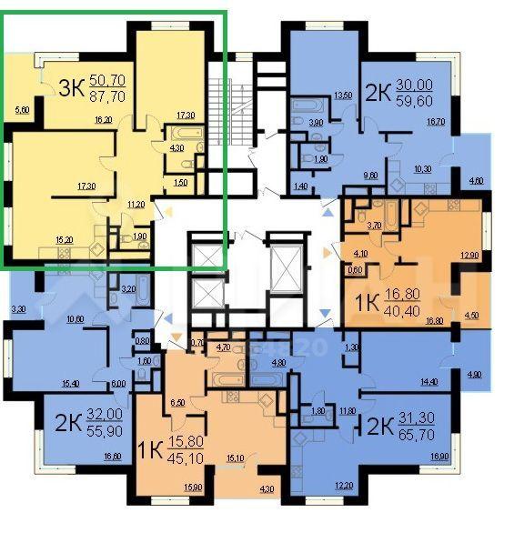 Продажа трёхкомнатной квартиры Москва, метро Каховская, Чонгарский бульвар 26Ак3, цена 27199999 рублей, 2020 год объявление №488262 на megabaz.ru