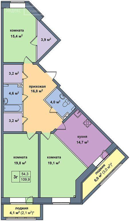 Аренда трёхкомнатной квартиры деревня Высоково, цена 40000 рублей, 2020 год объявление №1220453 на megabaz.ru