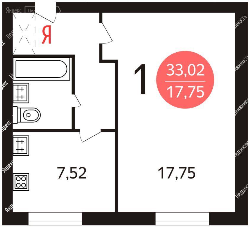 Продажа однокомнатной квартиры Москва, метро Беляево, улица Академика Волгина 31к3, цена 7300000 рублей, 2020 год объявление №506057 на megabaz.ru