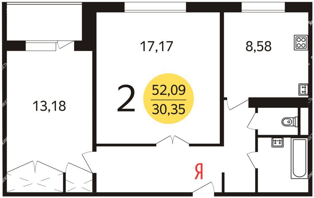 Аренда двухкомнатной квартиры Москва, метро Добрынинская, Люсиновская улица 2с1, цена 90000 рублей, 2021 год объявление №1352698 на megabaz.ru