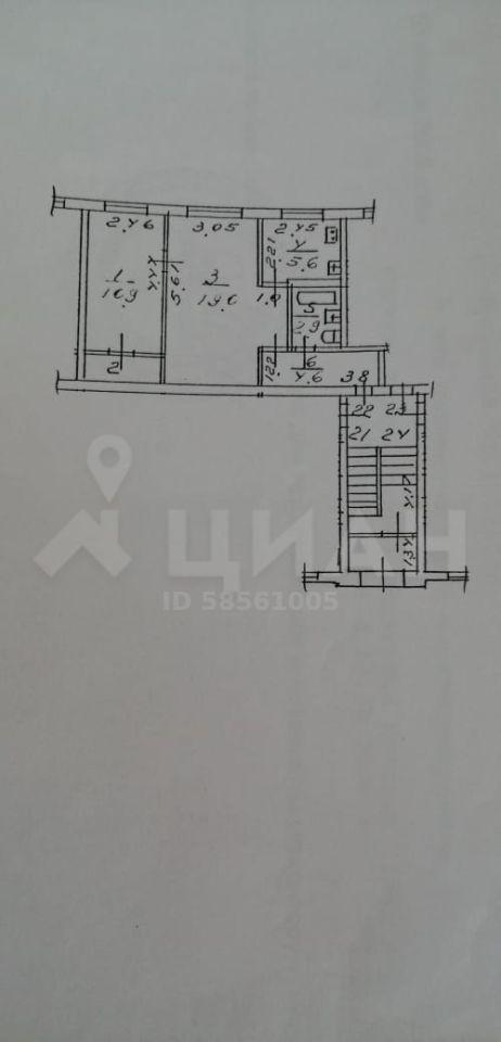 Продажа двухкомнатной квартиры Ивантеевка, Советский проспект 16, цена 3300000 рублей, 2020 год объявление №504714 на megabaz.ru