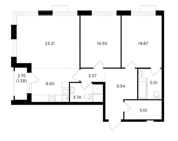 Продажа трёхкомнатной квартиры Москва, метро Нагорная, Электролитный проезд 7Ас2, цена 25000000 рублей, 2021 год объявление №567410 на megabaz.ru