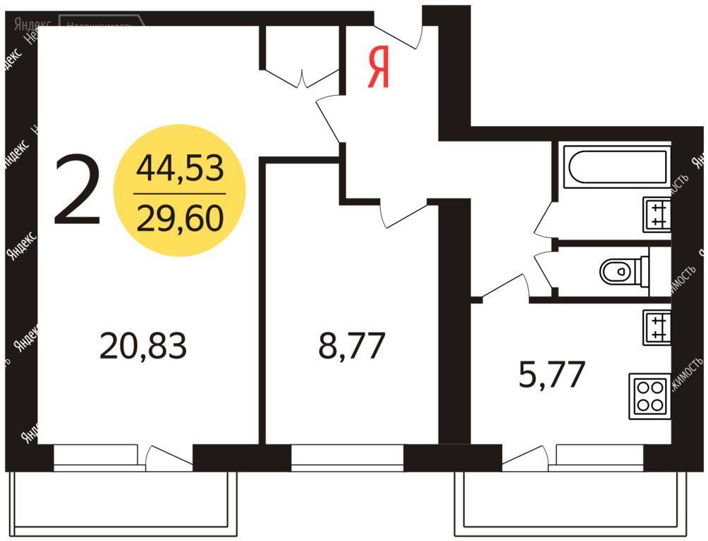Продажа двухкомнатной квартиры Москва, метро Варшавская, Артековская улица 3к2, цена 10550000 рублей, 2021 год объявление №506945 на megabaz.ru