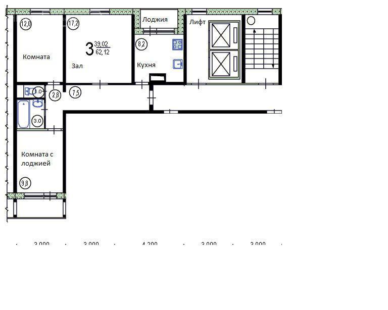 Продажа трёхкомнатной квартиры поселок Развилка, метро Домодедовская, цена 6100000 рублей, 2021 год объявление №488138 на megabaz.ru
