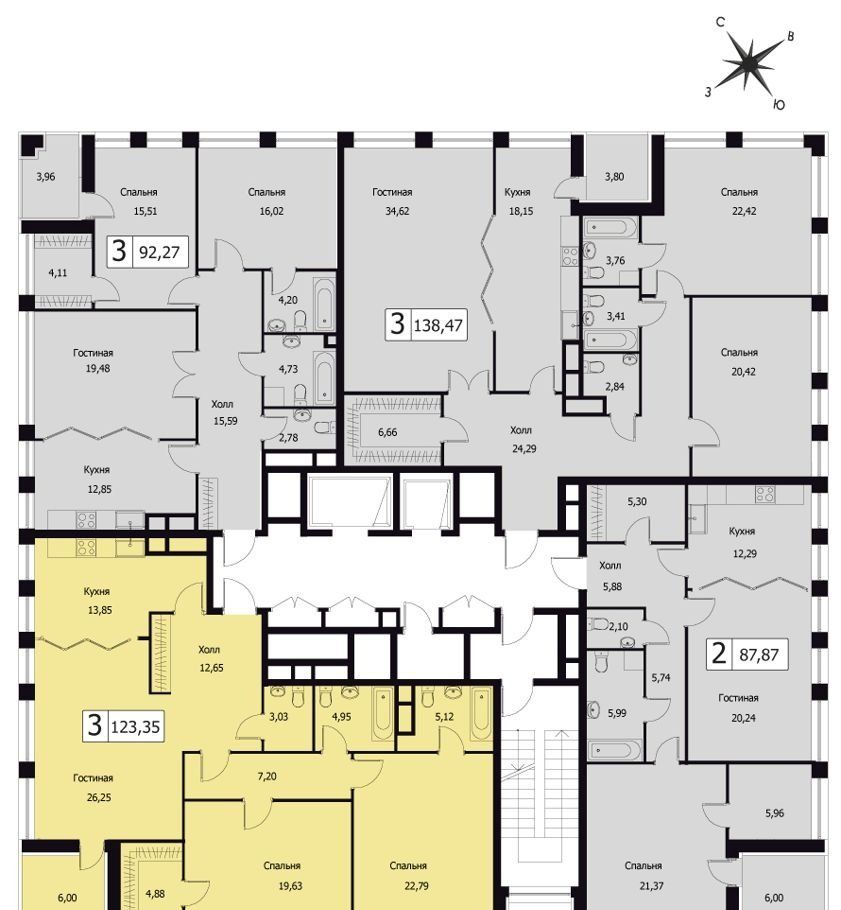 Продажа трёхкомнатной квартиры Москва, метро Фрунзенская, Усачёва улица 11, цена 95524698 рублей, 2020 год объявление №365764 на megabaz.ru
