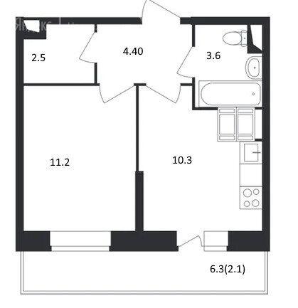 Продажа однокомнатной квартиры деревня Путилково, метро Волоколамская, цена 5700000 рублей, 2021 год объявление №510256 на megabaz.ru