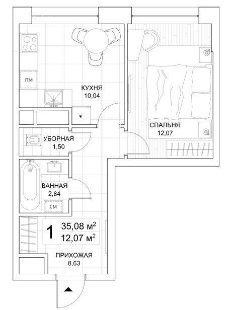 Продажа однокомнатной квартиры Москва, метро Фили, Береговой проезд 3к5, цена 15100000 рублей, 2021 год объявление №529063 на megabaz.ru