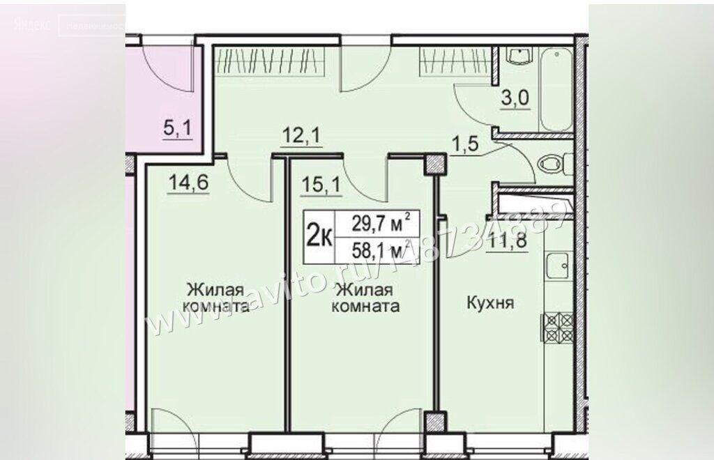 Продажа двухкомнатной квартиры деревня Большие Жеребцы, метро Щелковская, цена 3195000 рублей, 2021 год объявление №510604 на megabaz.ru