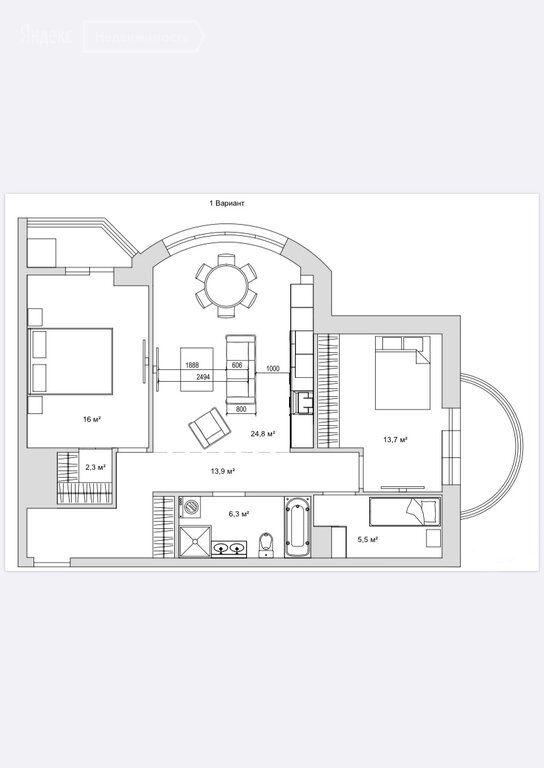 Продажа четырёхкомнатной квартиры рабочий поселок Новоивановское, Можайское шоссе 52, цена 12600000 рублей, 2021 год объявление №512800 на megabaz.ru