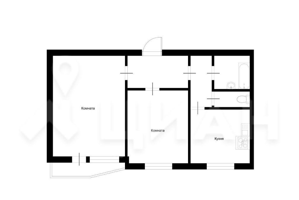Продажа двухкомнатной квартиры Москва, метро Братиславская, улица Перерва 31, цена 11100000 рублей, 2021 год объявление №515251 на megabaz.ru