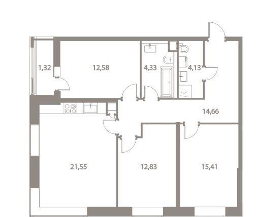 Продажа трёхкомнатной квартиры Москва, метро Варшавская, цена 17000000 рублей, 2021 год объявление №443405 на megabaz.ru