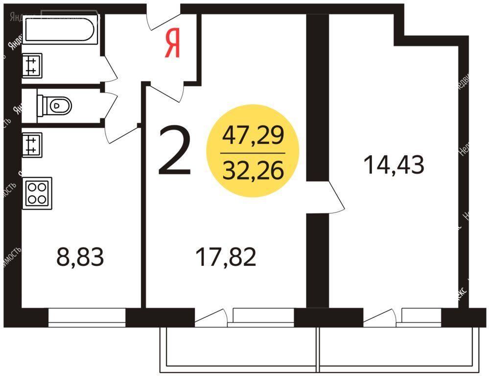Продажа двухкомнатной квартиры Москва, метро Алтуфьево, улица Корнейчука 30, цена 9000000 рублей, 2021 год объявление №538169 на megabaz.ru