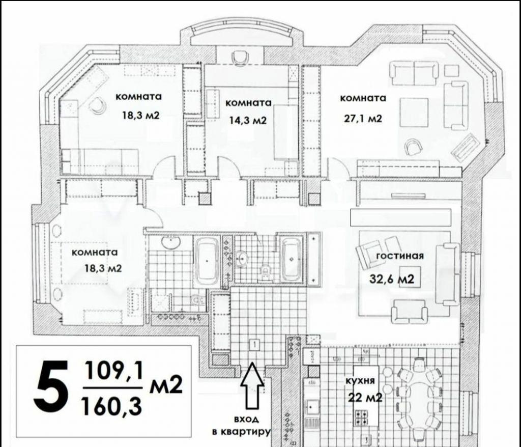Продажа пятикомнатной квартиры Москва, метро Полянка, улица Малая Полянка 12А, цена 79990000 рублей, 2021 год объявление №483214 на megabaz.ru