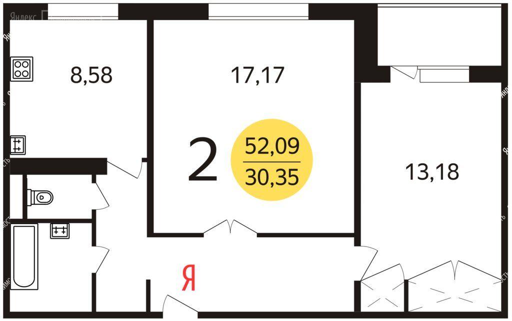Продажа двухкомнатной квартиры Москва, метро Улица Старокачаловская, Старобитцевская улица 21к2, цена 11700000 рублей, 2021 год объявление №575365 на megabaz.ru