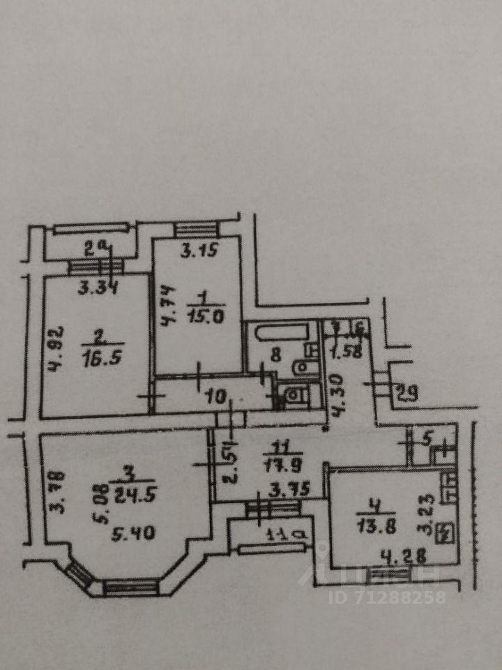 Продажа трёхкомнатной квартиры Москва, метро Достоевская, улица Достоевского 3, цена 43000000 рублей, 2021 год объявление №618504 на megabaz.ru