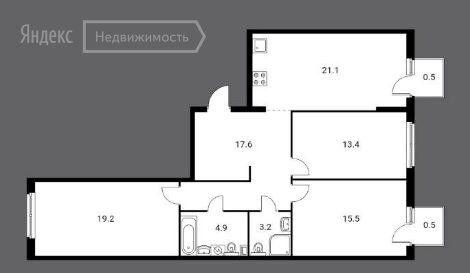 Продажа трёхкомнатной квартиры Москва, метро Авиамоторная, Красноказарменная улица 14Ак5, цена 21199000 рублей, 2021 год объявление №574249 на megabaz.ru