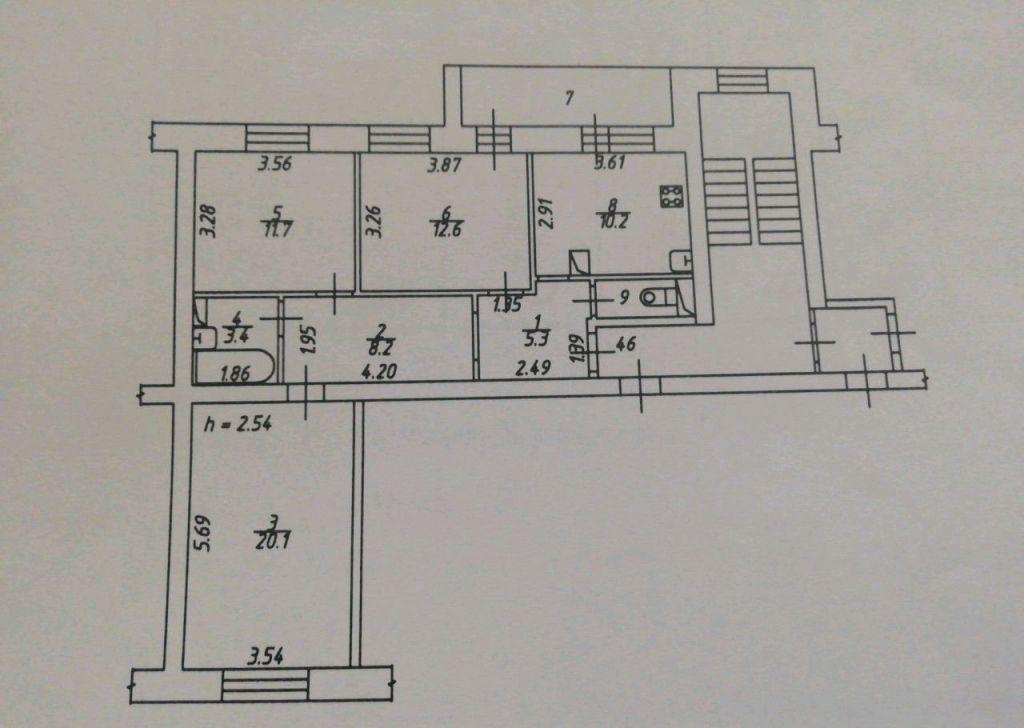 Продажа трёхкомнатной квартиры поселок Верея, Центральная улица 3, цена 3510000 рублей, 2021 год объявление №525210 на megabaz.ru