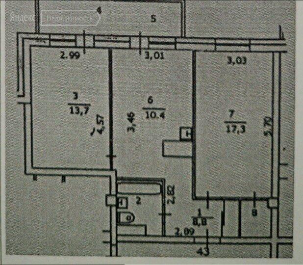 Продажа двухкомнатной квартиры рабочий посёлок Заречье, Университетская улица 1, цена 3850000 рублей, 2021 год объявление №562435 на megabaz.ru