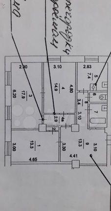 Продажа трёхкомнатной квартиры Москва, метро Рязанский проспект, Зеленодольская улица 3, цена 15000000 рублей, 2021 год объявление №564198 на megabaz.ru