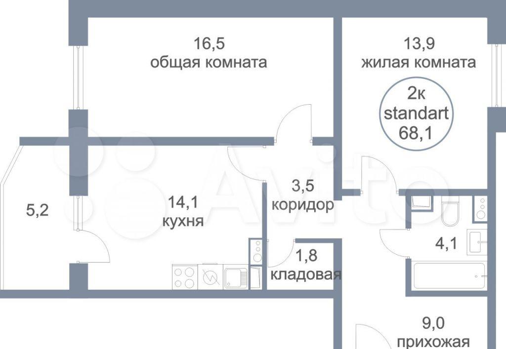 Продажа двухкомнатной квартиры деревня Голубое, Парковый бульвар 2к2, цена 7320000 рублей, 2021 год объявление №708190 на megabaz.ru