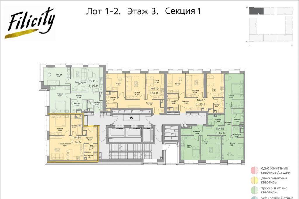 Продажа двухкомнатной квартиры Москва, метро Фили, цена 17200000 рублей, 2021 год объявление №528948 на megabaz.ru