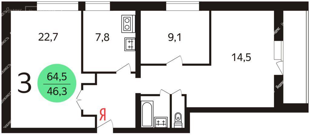 Продажа трёхкомнатной квартиры Москва, метро Курская, Гороховский переулок 21, цена 21800000 рублей, 2021 год объявление №596957 на megabaz.ru
