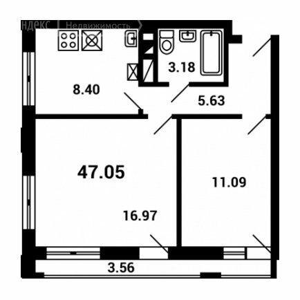Продажа двухкомнатной квартиры поселок Мещерино, метро Домодедовская, цена 7500000 рублей, 2021 год объявление №542273 на megabaz.ru