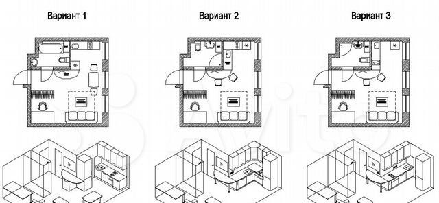 Продажа студии Москва, метро Марьино, цена 7000000 рублей, 2021 год объявление №579906 на megabaz.ru