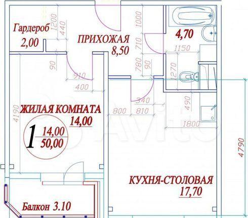 Продажа однокомнатной квартиры село Рождествено, Рождественский бульвар 3, цена 3950000 рублей, 2021 год объявление №545526 на megabaz.ru
