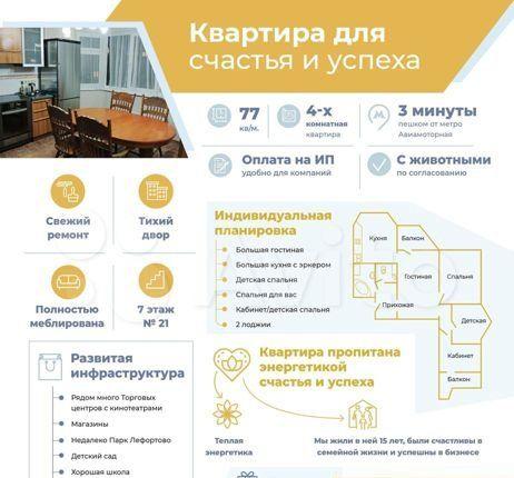 Аренда четырёхкомнатной квартиры Москва, метро Авиамоторная, шоссе Энтузиастов 11Ак4, цена 80000 рублей, 2021 год объявление №1285678 на megabaz.ru