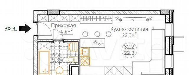 Продажа однокомнатной квартиры деревня Суханово, цена 4500000 рублей, 2021 год объявление №578583 на megabaz.ru