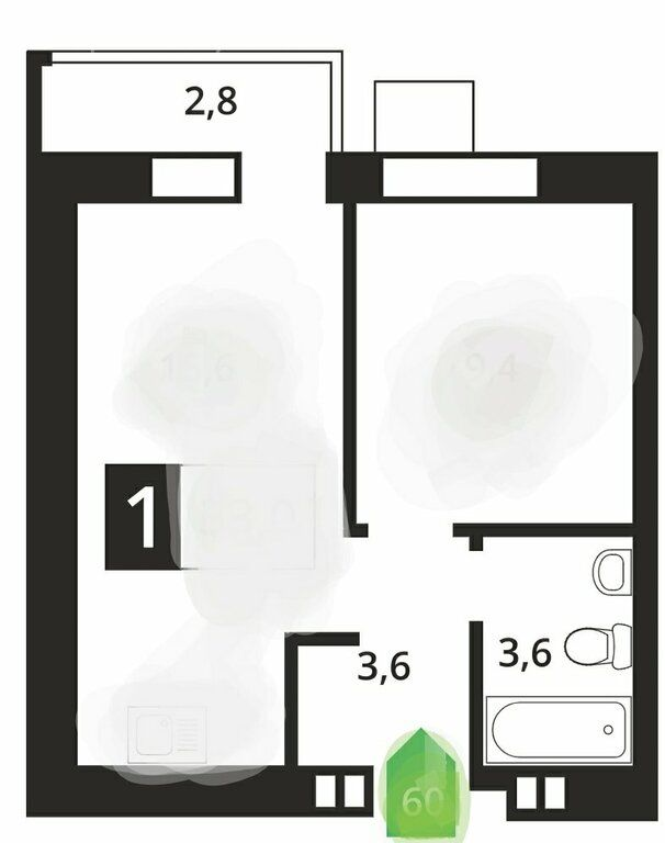Продажа однокомнатной квартиры деревня Аристово, метро Пятницкое шоссе, цена 4850000 рублей, 2021 год объявление №544254 на megabaz.ru