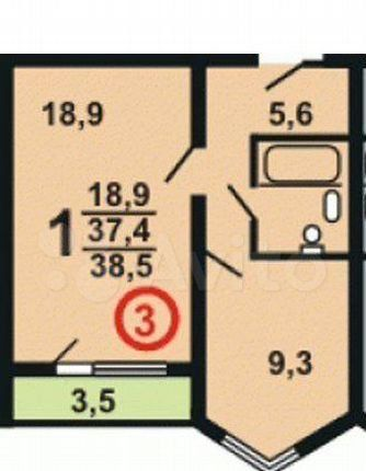 Продажа однокомнатной квартиры деревня Медвежьи Озёра, Юбилейная улица 12, цена 4000000 рублей, 2021 год объявление №574810 на megabaz.ru